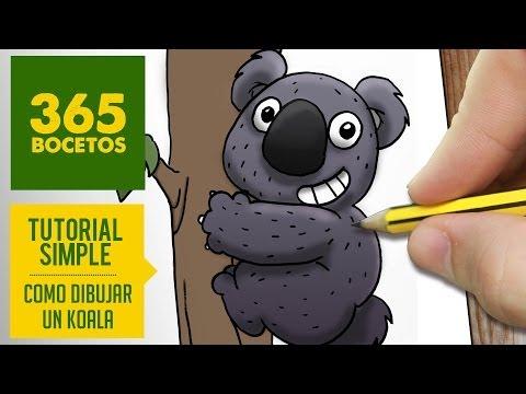 Como dibujar a un Koala con Bambú adorable