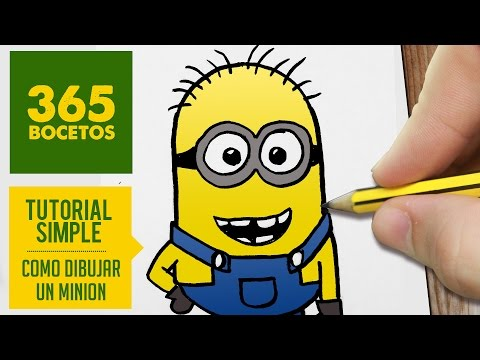 Como dibujar a un Minion sencillo