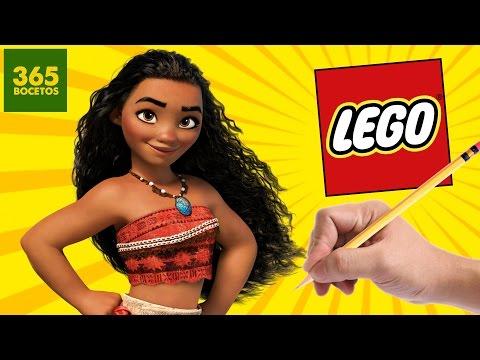 Como dibujar a Vaiana estilo LEGO