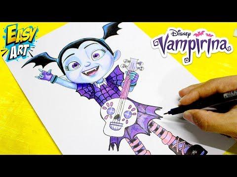 Como dibujar a Vampirina de Disney
