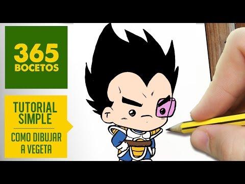 Como dibujar a Vegeta de Dragon Ball fácil