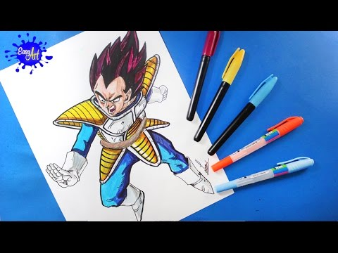 Como Dibujar A Vegeta De Dragon Ball Z