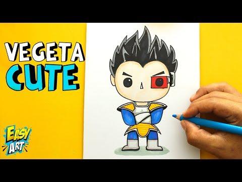 Como dibujar a Vegeta estilo CUTE