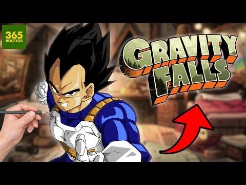 Como dibujar a Vegeta estilo Gravity Falls