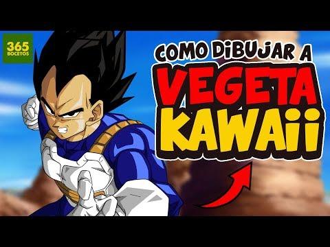 Como dibujar a Vegeta kawaii