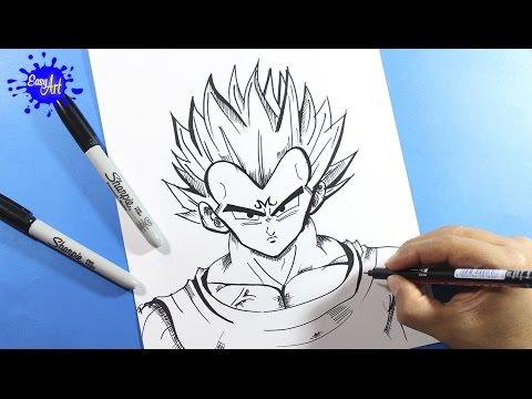 Como dibujar a Vegeta Majin de Dragon Ball Z
