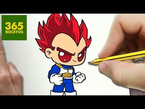 Como dibujar a Vegeta SSJ Dios