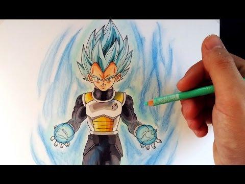 Como dibujar a Vegeta Super Saiyan Dios