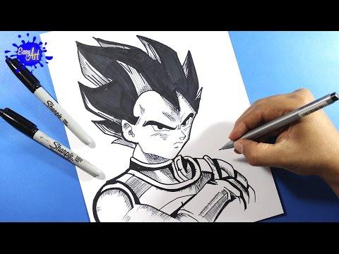 Como dibujar a Vegeta