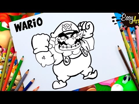 Como dibujar a Wario