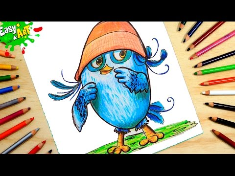 Como dibujar a Willow de Angry Birds fácil