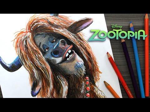 Como dibujar a Yax de Zootrópolis