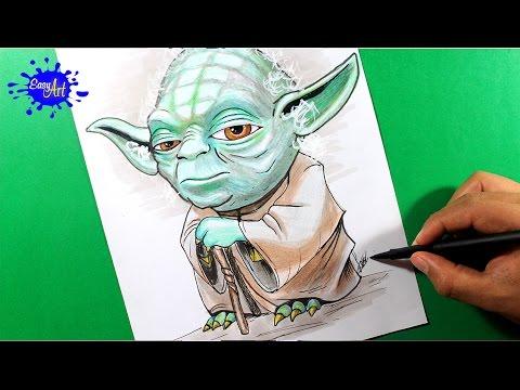 Como dibujar a Yoda de Star Wars paso a paso