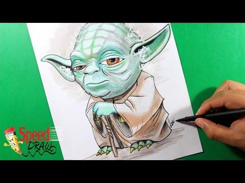 Como dibujar a Yoda de Star Wars