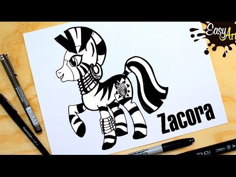 Como dibujar a Zecora de My Little Pony