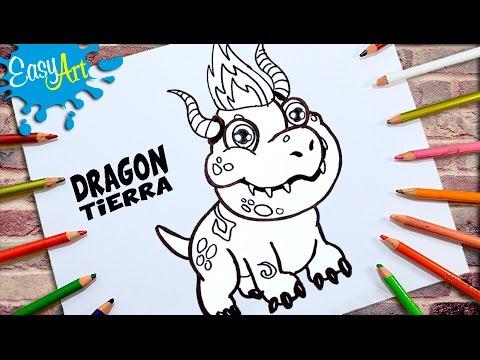 Como dibujar al Dragón de Tierra de Dragon City