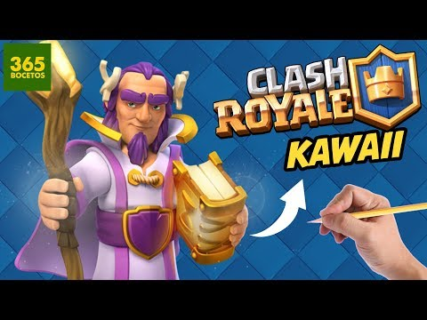 Como dibujar al Gran Centinela de Clash Royale kawaii