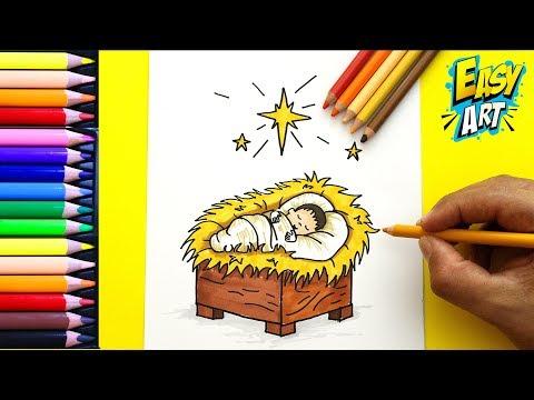 Como Dibujar Al Niño Jesús Para Navidad