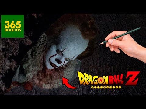 Como dibujar al Payaso de It estilo Dragon Ball