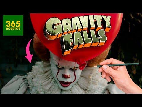 Como dibujar al Payaso de It estilo Gravity Falls