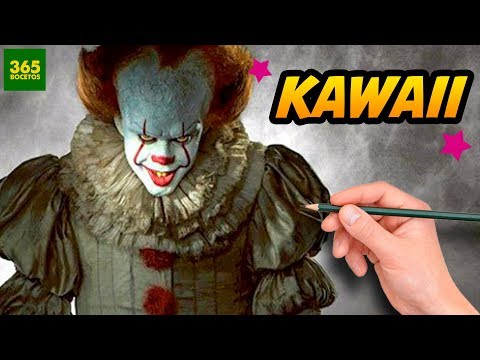 Como dibujar al Payaso de It estilo kawaii