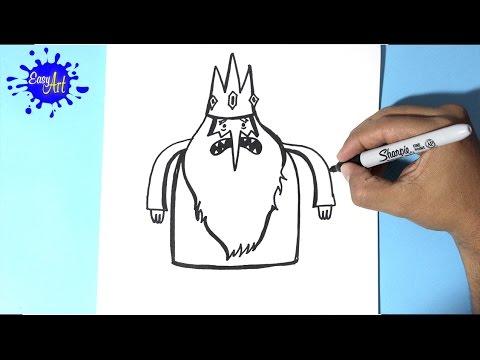 Como dibujar al Rey Helado de Hora de Aventuras