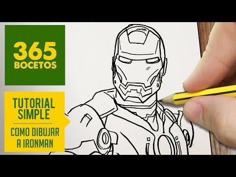 Como dibujar al super héroe Iron man