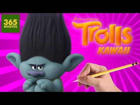 Como dibujar al Troll Ramón estilo kawaii
