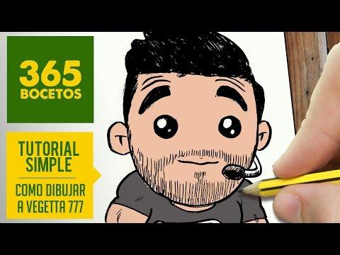 Como dibujar al Youtuber Vegetta777 kawaii