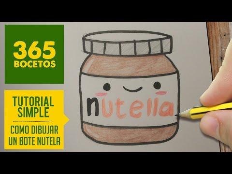 Como dibujar bote de nutella kawaii