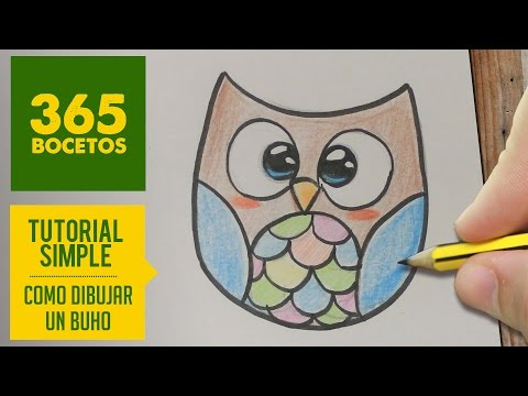 Como dibujar búho infantil