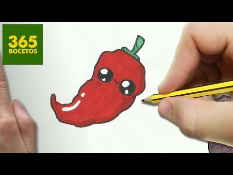 Como dibujar Chili kawaii