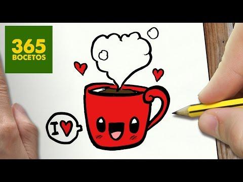 Como dibujar chocolate a la taza amorosa
