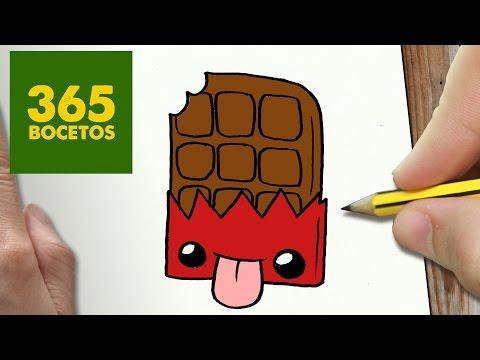 Como dibujar chocolate kawaii