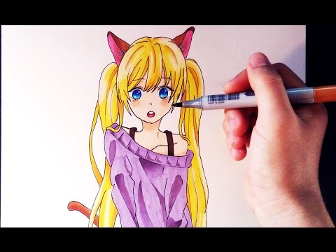 Como dibujar con rotuladores de colores
