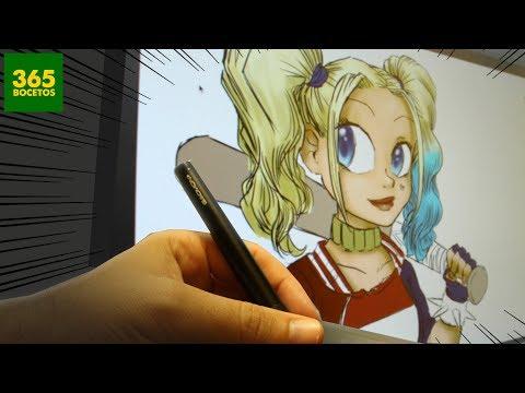Como dibujar con Tablet: Harley Quinn de El Escuadrón Suicida