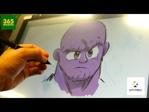 Como dibujar con Tablet: Thanos de los Vengadores