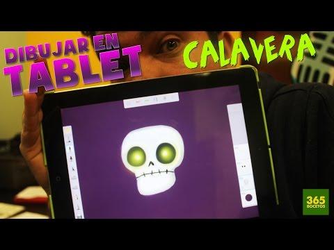 Como dibujar con Tablet: Una Calavera de Halloween
