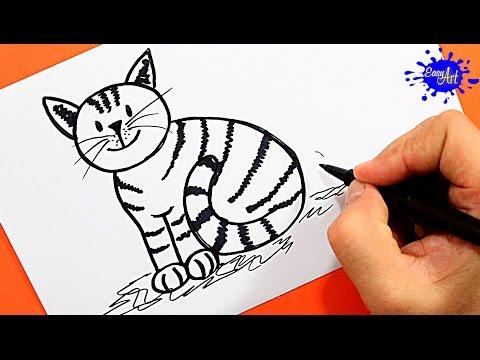 Como dibujar dulce Gatito