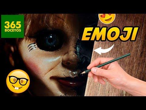 Como dibujar el Emoji de Annabelle
