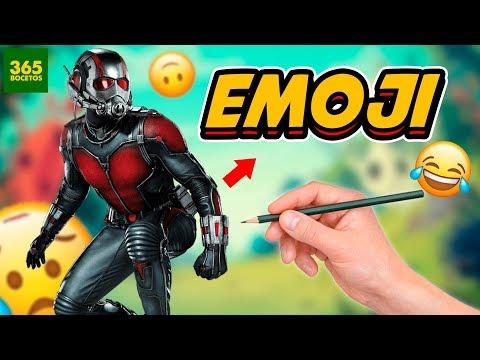 Como dibujar el Emoji de Ant-Man
