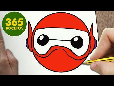 Como dibujar el Emoji de Baymax