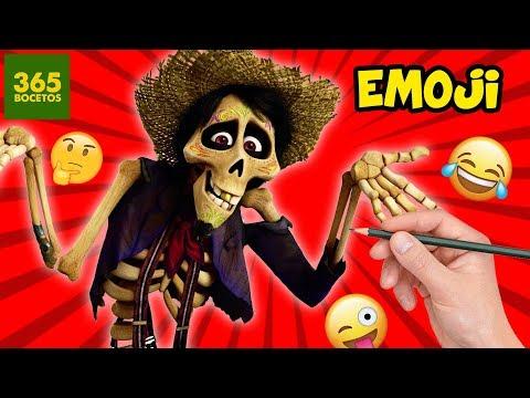 Como dibujar el Emoji de Héctor de Coco
