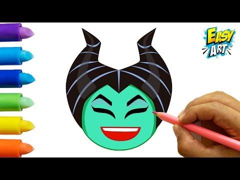 Como dibujar el Emoji de Maléfica de Disney