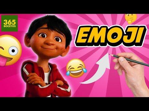 Como dibujar el Emoji de Miguel de Coco
