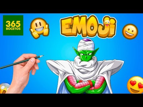 Como dibujar el Emoji de Piccolo de Dragon Ball