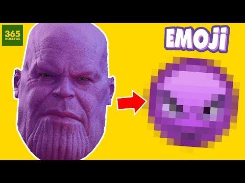 Como dibujar el Emoji de Thanos de los Vengadores