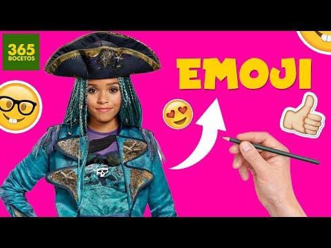 Como dibujar el Emoji de Uma de Los Descendientes