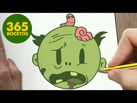 Como dibujar el Emoji de un Zombie
