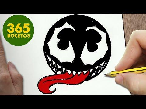 Como dibujar el Emoji de Venom de Marvel